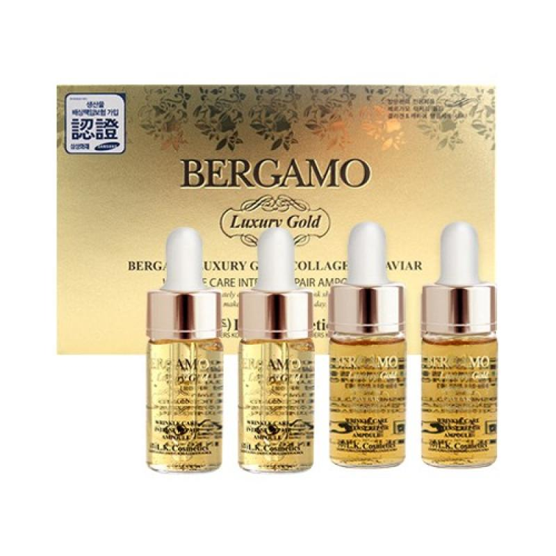 Serum Bergamo Luxury Gold Collagen & Caviar ( Set 4 Lọ)